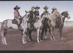Pendleton Oregon Rodeo Cowgirls of 1926 on Pinto Horses Large Frameable Postcard | eBay