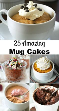 in Seconds! 25 Amazing Mug Cakes Dessert in Seconds! 25 Amazing Cakes in a Mug on Dessert in Seconds! 25 Amazing Cakes in a Mug on Mug Cake Receta, Food Cakes, Cupcake Cakes, Cupcake In A Cup, Sweet Recipes, Cake Recipes, Mug Dessert Recipes, Dessert In A Mug, Think Food
