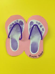 Summer infant art flip flops