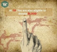 Minimum Age Qualification to Donate Blood is 18 #MobileApp #DoWhistle #BloodDonor