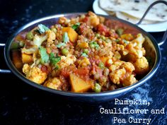 Meatless Monday - Pumpkin, Cauliflower and Pea Curry