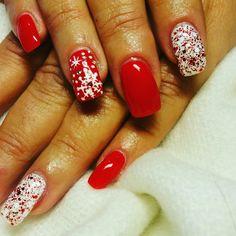 🎅🎅🎅#gel_nails #handmade_christmas_nailart