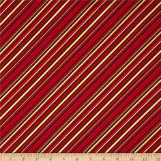 Season's Greetings Metallic Diagonal Stripe Red from @fabricdotcom  Designed by Michele D'Amore Designs, LLC for Benartex, this cotton print fabric is perfect for quilting, apparel and home decor accents. Colors include shades of red. Features gold metallic accents throughout.