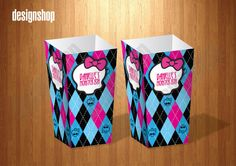 POPCORN box Monster high - Printable Box for birthday partys by Design Shop. $5.90, via Etsy.