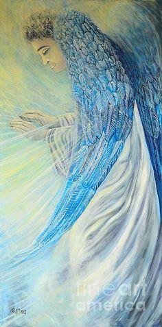 Angel Divine. Oil on canvas by Caroline Street