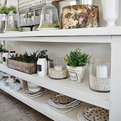 Easy DIY Buffet Table. Beautiful large anchor for any kitchen space.