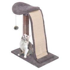 Penn Plax Cat Lounger Scratcher with Sisal Slide Scratch Mat and Dangle Toy -- Quickly view this special  product, click the image(This is an affiliate link and I receive a commission for the sales) : Cat Condo Tree Tower
