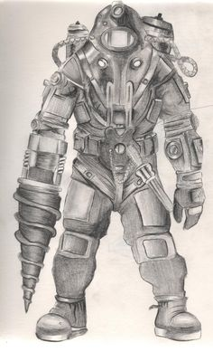 Bioshock 2 Big Daddy by diamondskeletons.deviantart.com on @DeviantArt