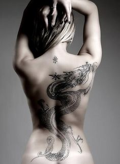 xaxii dragon tattoo asian inspiration, woman, Japanese