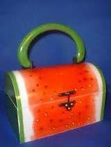 1970 Lady London Watermelon Purse Handbag