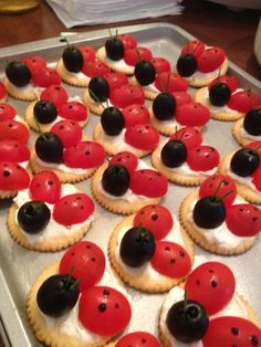 "@Stephanie Elise, this is cute! Make these after reading Eric carle's ""The Grouchy Ladybug""!"