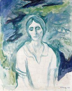 "dappledwithshadow: ""Edvard Munch The Gothic Girl 1924 """