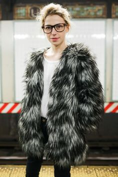 Subway Stalking! 60+ Real NYers En Route #refinery29  http://www.refinery29.com/nyc-subway-street-style#slide-17   Faux fur is working here.L Train, 14th Street/Union Square — 3/11, 11:51 a.m....