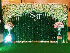 Wifa Catering N Wedding Consultants. Wedding Hall Decorations, Wedding Stage Design, Wedding Reception Backdrop, Wedding Entrance, Engagement Decorations, Wedding Wall, Wedding Set Up, Naming Ceremony Decoration, Marriage Decoration