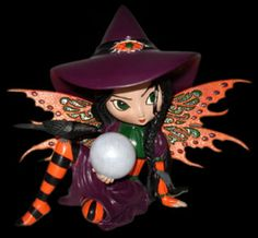 Witch Fairy - Make a Little Magic - Witch Fairy figurine collection by Jasmine…