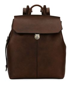 BALLY Abbot Grained Calf Leather Backpack, Brown. #bally #bags #leather #backpacks #