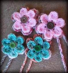 crochet flower. Tutorial