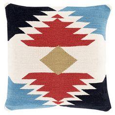 Kilim Cotton Pillow, Ivory