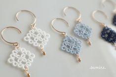 Tatting Earrings, Tatting Jewelry, Lace Earrings, Lace Jewelry, Tatting Lace, Crochet Earrings, Crochet Flowers, Crochet Lace, Tatting Tutorial
