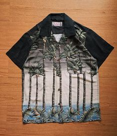 Midnight Palm Trees. Now available in our webstore #slodei #tropicthundervintage  www.tropic-thunder.com