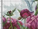 Peonies Page 3 Counted Cross Stitch Patterns, Cross Stitch Designs, Cross Stitch Embroidery, Embroidery Patterns, Cross Stitch Rose, Cross Stitch Flowers, Cross Stitching, Needlepoint, Needlework