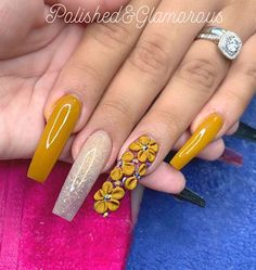 ✔ most sexy and trendy prom and wedding acrylic nails and matte nails for this season 24 Mustard 🍂🍂 What's your favorite Fall Color? Acrylic Nails Yellow, Wedding Acrylic Nails, Yellow Nails, Cute Acrylic Nails, Acrylic Nail Designs, Gel Nails, Coffin Nails, Matte Nails, Nail Polish