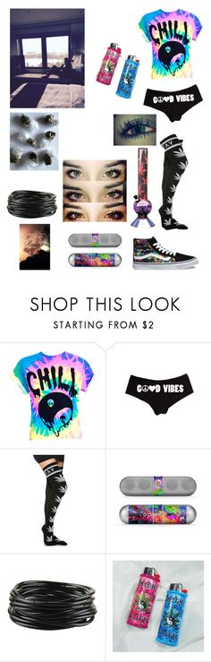 """""""Waking Luke and Arzaylea Up With Early Morning Bong Rips- Emma"""" by lovelylunahemmings ❤ liked on Polyvore featuring Beats by Dr. Dre, Forever 21 and Vans"""