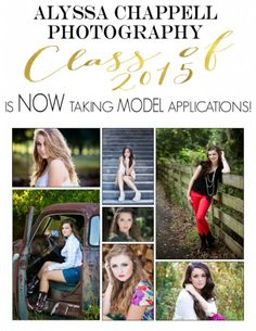 2015 Senior Model Application   2015 Model Search   Senior Pictures   Alyssa Chappell Photography   Model Rep
