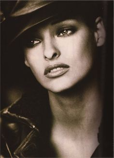 Linda Evangelista by Peter Lindbergh - Harper's Bazaar, 125th Year, September 1992.