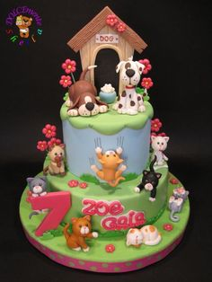 cats and dogs - Cake by Sheila Laura Gallo