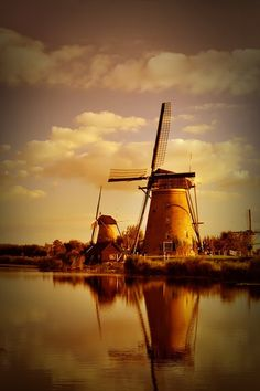Windmills. Check out this romantic wallpaper :)