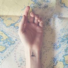 Pin for Later: 100 Real-Girl Tiny Tattoo Ideas For Your First Ink Sail Away