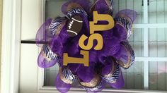LSU deco mesh wreath!