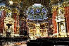 St Stephen church. Altar. Budapest. Basílicad de San Esteba by J. A. Alcaide, via Flickr