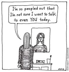 Peopled Out.  10 Comics That Perfectly Sum Up What It's Like To Be An Introvert