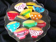 madhatters cookies   Babcakes Bakery: Mad Hatter Tea Party Cookies