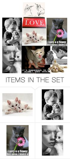 """""""Kitteh Loves U"""" by verysmallgoddess ❤ liked on Polyvore featuring art"""