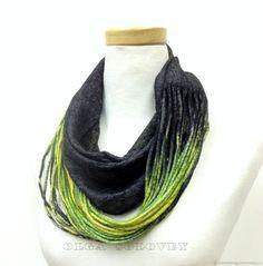Купить шарф - снуд МОЛОДЫЕ РОСТКИ в интернет магазине на Ярмарке Мастеров