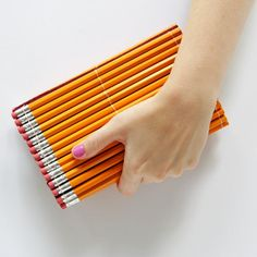Go back to school in style with this DIY pencil clutch!