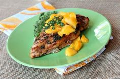 Balsamic- Mango Marinated Grilled Chicken - OK, this is delicious. I've made it with mango, and also with pineapple juice instead of mango nectar, and peaches instead of mango. It was heavenly either way. I served over rice. Another healthy food that kids and adults will like.