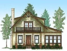 Cute Cottage With Bunk Room - 9746AL | 1st Floor Master Suite, CAD Available, Cottage, Mountain, PDF, Vacation | Architectural Designs