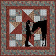 Best Friends Cowgirl Applique Wallhanging PDF by madcreekdesigns