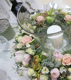 Gorgeous table centre for storm lanterns or the base of a candleabra