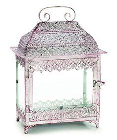 Look at this #zulilyfind! Whitewashed Decorative Lantern by burton + BURTON #zulilyfinds
