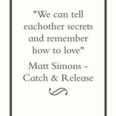 ♫ Matt Simons - Catch and Release ♪