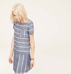 LOU and GREY STRIPED CHAMBRAY DRESS