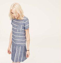 Lou & Grey Striped Chambray Dress | Loft