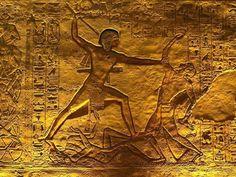 Pharoah Ramesses II defeating his enemies ~ Abu Simbel Temple.