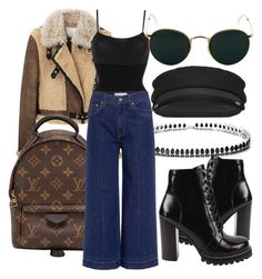 """#Look:#422"" by dollarwomanlux ❤ liked on Polyvore featuring 3.1 Phillip Lim, Louis Vuitton, Wolford, Fallon, Jeffrey Campbell, Yves Saint Laurent, 10 Crosby Derek Lam and Ray-Ban"