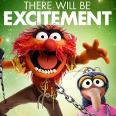 Puppets Animal the drummer in Muppets show, There Will BE Excitement drumming drum kits sets drumsticks